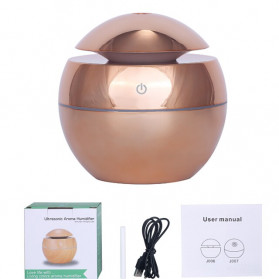 DELIXING Ultrasonic Air Humidifier Diffusers Aromatherapy USB 130ml - RJS62 - Golden