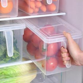 Strongwell Kotak Kontainer Makanan Kulkas Kitchen Storage Food Box 31 x 15.6 x 16 cm - SW804-L - Transparent