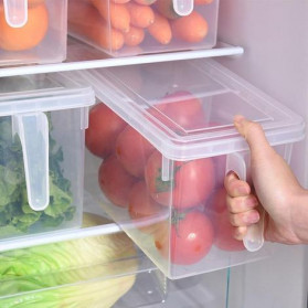 Strongwell Kotak Kontainer Makanan Kulkas Kitchen Storage Food Box 29x14.5x14.5CM - SW804-S - Transparent