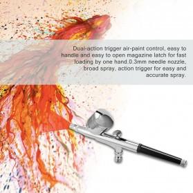 AFABEITA Air Compressor Airbrush Painting Tatto Nail Art with Spray Gun 0.2mm 7ml - T300K - White - 8
