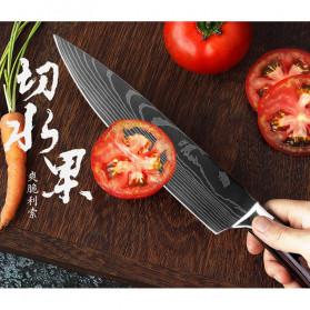 XITUO Pisau Dapur Chef Damascus Pattern - 7 Inch Cleaver Knife - Silver - 3