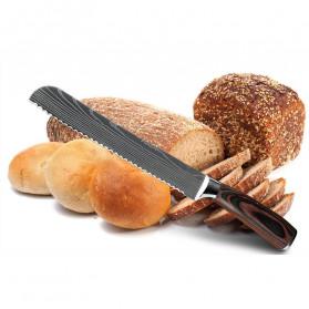 XITUO Pisau Dapur Chef Damascus Pattern - 7 Inch Cleaver Knife - Silver - 6