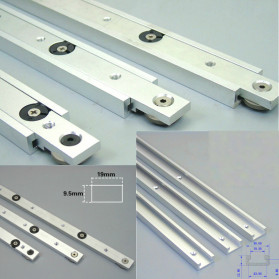 FNICEL T-tracks Slot Miter Slider Bar Woodworking Tools 300mm with Retaining Ring - Silver - 4