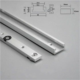 FNICEL T-tracks Slot Miter Slider Bar Woodworking Tools 300mm with Retaining Ring - Silver - 5