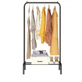 BKZ Hanger Gantungan Baju Rak Lemari Pipa Anti Slip 130x60x40cm - hkg122 - Black