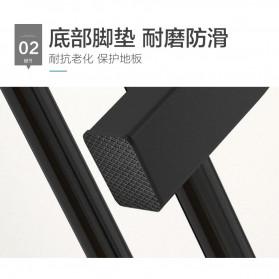 BKZ Hanger Gantungan Baju Rak Lemari Pipa Anti Slip 130x60x40cm - hkg122 - Black - 4