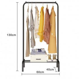 BKZ Hanger Gantungan Baju Rak Lemari Pipa Anti Slip 130x60x40cm - hkg122 - Black - 5