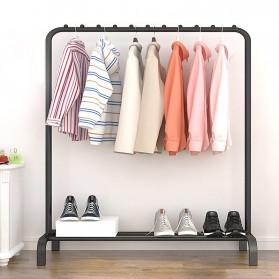 BKZ Stand Rak Gantungan Baju 150x110x40cm - HKG01 - Matte Black