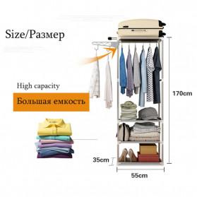 ACTIONCLUB Rak Gantungan Baju Multifungsi Hanger Besi Anti Slip 55x35x170CM - HH3476 - Bronze - 3
