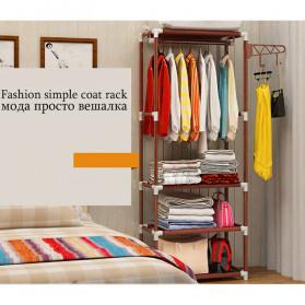 ACTIONCLUB Rak Gantungan Baju Multifungsi Hanger Besi Anti Slip 55x35x170CM - HH3476 - Bronze - 5