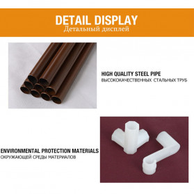 ACTIONCLUB Rak Gantungan Baju Multifungsi Hanger Besi Anti Slip 55x35x170CM - HH3476 - Bronze - 7