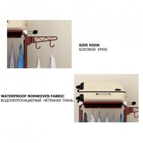 ACTIONCLUB Rak Gantungan Baju Multifungsi Hanger Besi Anti Slip 55x35x170CM - HH3476 - Bronze - 8