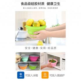 ACEBON Gelas Lipat Silikon Foldable Travel Mug 500ml - GY1000 - Blue - 3