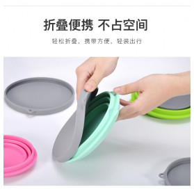 ACEBON Gelas Lipat Silikon Foldable Travel Mug 500ml - GY1000 - Blue - 5