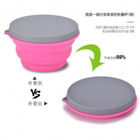ACEBON Gelas Lipat Silikon Foldable Travel Mug 500ml - GY1000 - Blue - 7