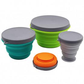 ACEBON Gelas Lipat Silikon Foldable Travel Mug 500ml - GY1000 - Blue - 8