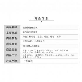 ACEBON Gelas Lipat Silikon Foldable Travel Mug 500ml - GY1000 - Blue - 9