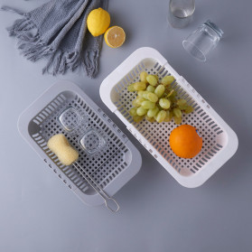 ZMHEGW Rak Pengering Cuci Piring Retractable Kitchen Organizer Drain Basket - CLAZ001 - Gray - 5