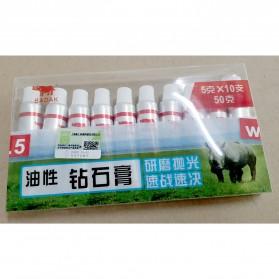 BADAK Pasta Pengasah Pisau Abresive Polishing Paste Buffing Compound Metal Knife Grinding W1 - Grit 8000 - White - 7