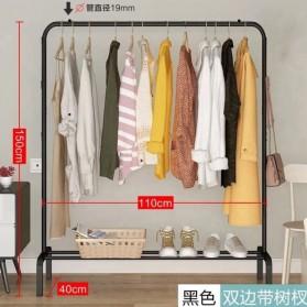 BKZ Stand Rak Gantungan Baju + Hanger & Anti Slip 150x110x40cm - HKG10 - Matte Black