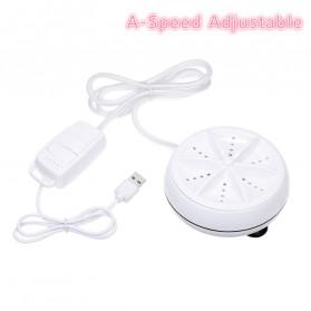 HOMGEEK Mesin Cuci Mini Portable Washing Machine Ultrasonic - CE172 - White - 3