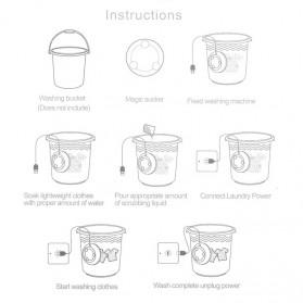 HOMGEEK Mesin Cuci Mini Portable Washing Machine Ultrasonic - CE172 - White - 6
