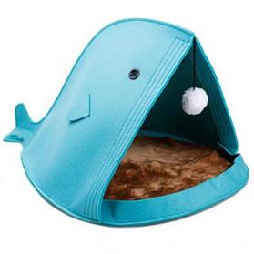 Mimo Tempat Tidur Lipat Anak Kucing Breathable Felt Cat Bed - MM12012 - Blue