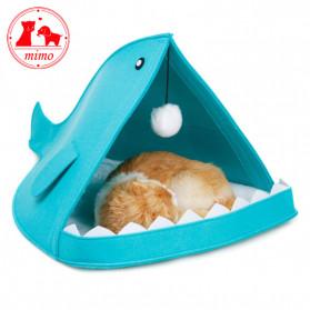 Mimo Tempat Tidur Lipat Anak Kucing Breathable Felt Cat Bed - MM12012 - Blue - 2