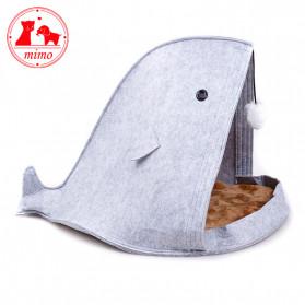 Mimo Tempat Tidur Lipat Anak Kucing Breathable Felt Cat Bed - MM12012 - Blue - 6