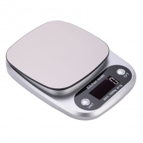 VKTECH Timbangan Dapur Digital Kitchen Scale 3kg 0.1g - C305 - Silver