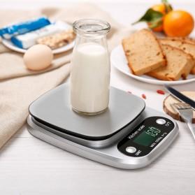 VKTECH Timbangan Dapur Digital Kitchen Scale 3kg 0.1g - C305 - Silver - 3