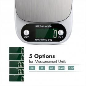 VKTECH Timbangan Dapur Digital Kitchen Scale 3kg 0.1g - C305 - Silver - 4