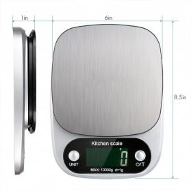 VKTECH Timbangan Dapur Digital Kitchen Scale 3kg 0.1g - C305 - Silver - 5