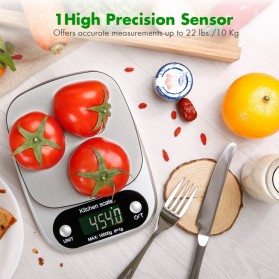 VKTECH Timbangan Dapur Digital Kitchen Scale 3kg 0.1g - C305 - Silver - 8