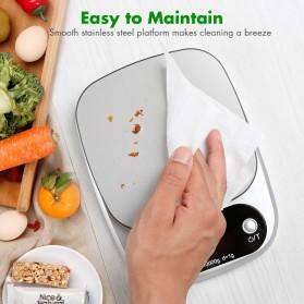 VKTECH Timbangan Dapur Digital Kitchen Scale 3kg 0.1g - C305 - Silver - 10