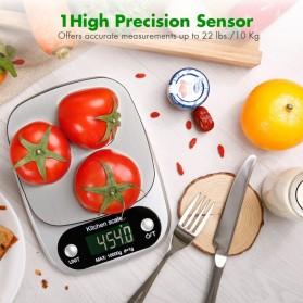 VKTECH Timbangan Dapur Digital Kitchen Scale 3kg 0.1g - C305 - Gray - 8
