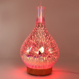 Umiwe 3D Firework Glass Vase LED Humidifier Aromatherapy - RJ300 - Yellow
