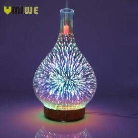 Umiwe 3D Firework Glass Vase LED Humidifier Aromatherapy - RJ300 - Brown - 1