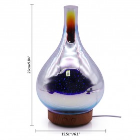 Umiwe 3D Firework Glass Vase LED Humidifier Aromatherapy - RJ300 - Brown - 2