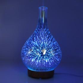 Umiwe 3D Firework Glass Vase LED Humidifier Aromatherapy - RJ300 - Brown - 3