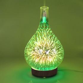 Umiwe 3D Firework Glass Vase LED Humidifier Aromatherapy - RJ300 - Brown - 5