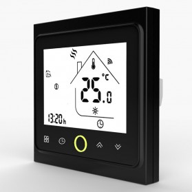 MoesHouse WiFi Smart Thermostat Temperature Controller Work with Alexa Google Home - BHT-002GBLW - Black - 2