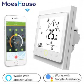 MoesHouse WiFi Smart Thermostat Temperature Controller Work with Alexa Google Home - BHT-002GBLW - Black - 3