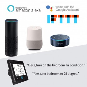 MoesHouse WiFi Smart Thermostat Temperature Controller Work with Alexa Google Home - BHT-002GBLW - Black - 4