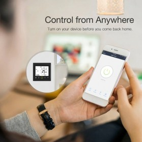 MoesHouse WiFi Smart Thermostat Temperature Controller Work with Alexa Google Home - BHT-002GBLW - Black - 5