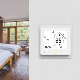 MoesHouse WiFi Smart Thermostat Temperature Controller Work with Alexa Google Home - BHT-002GBLW - Black - 6