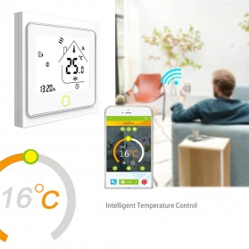 MoesHouse WiFi Smart Thermostat Temperature Controller Work with Alexa Google Home - BHT-002GBLW - Black - 9