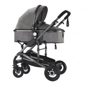 Wisesonle Baby Stroller Kereta Dorong Bayi Multifungsi 3 in 1 Folding High Landscape -  ST01 - Gray - 2