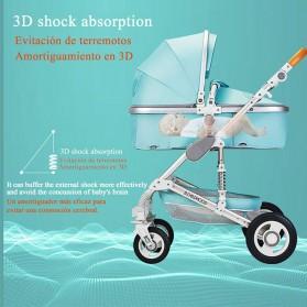 Wisesonle Baby Stroller Kereta Dorong Bayi Multifungsi 3 in 1 Folding High Landscape -  ST01 - Gray - 5