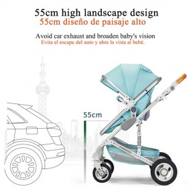 Wisesonle Baby Stroller Kereta Dorong Bayi Multifungsi 3 in 1 Folding High Landscape -  ST01 - Gray - 6